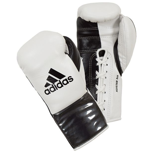 Adidas Adistar Pro Boxing Gloves - White/Black