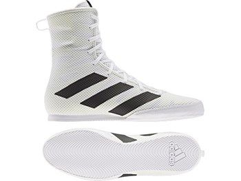 Adidas Box Hog 3 Boxing Boots - White
