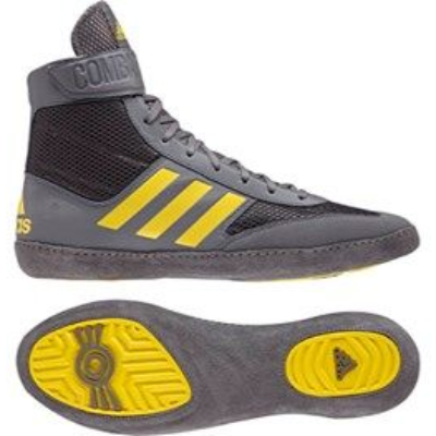 Adidas Combat Speed 5 Wrestling Boots - Grey/Black