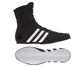 Adidas Kids Box Hog Boxing Boots - Black/White/Grey