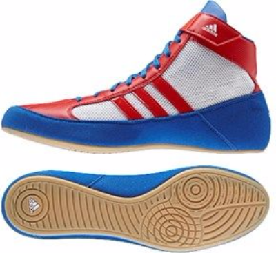 Adidas Kids Havoc Boots - White/Red/Blue (12.5)
