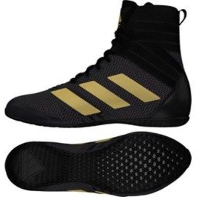 Adidas Speedex 18 Boxing Boots - Black/Gold