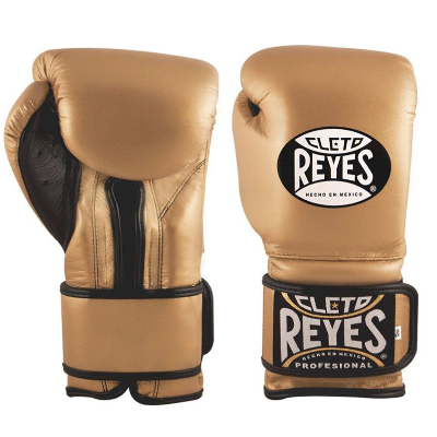 Cleto Reyes Wrap Around Sparring Gloves - Gold