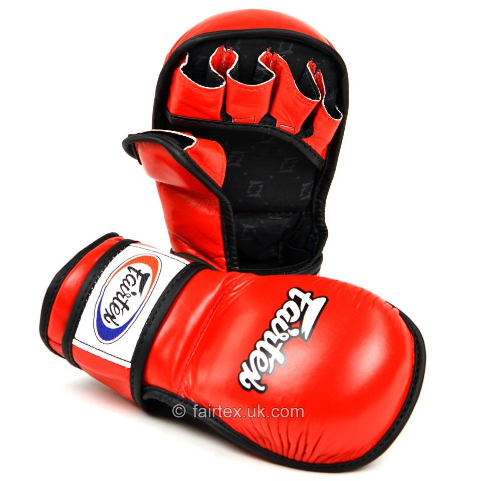 Fairtex MMA Sparring Gloves - Red