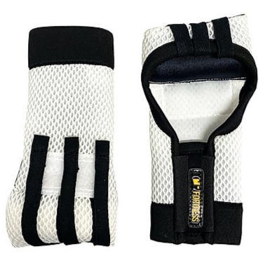 Fortress Boxing Slip On Pro Elite Super Slim Fastwraps - White/Black