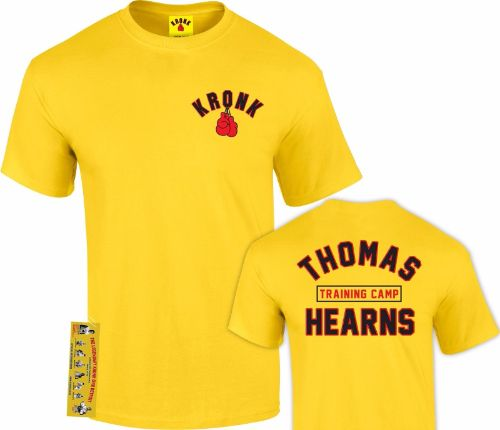 Kronk Boxing Thomas Hearns Training Camp T-shirt - Yellow