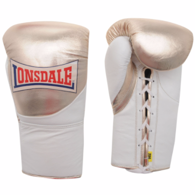 Lonsdale MK2 Pro Fight Gloves - Gold/White