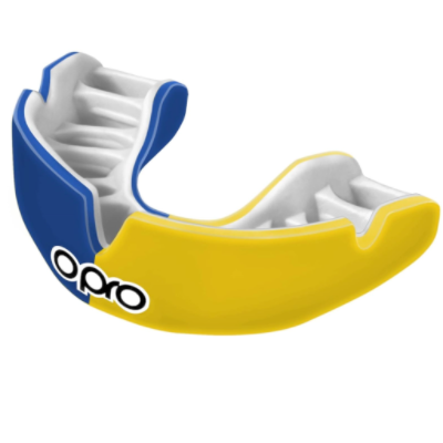 Opro Power-Fit Mouthguard - Blue/Yellow