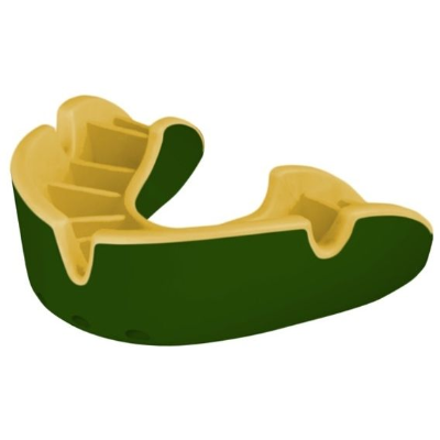 Opro Silver Gum Shield - Green