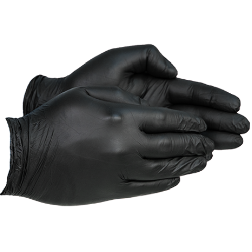 Pack of 100 Black Nitrile Gloves