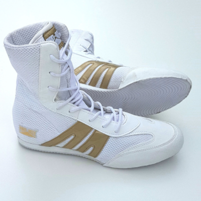 Pro-Box Junior Boxing Boots - White/Gold