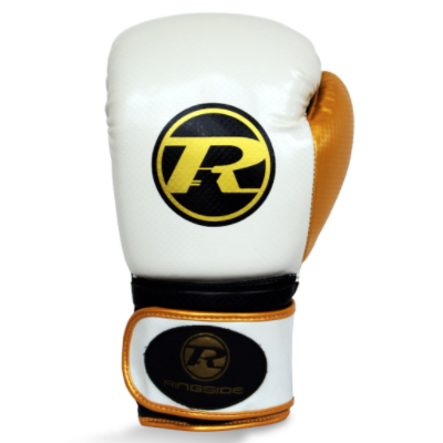 Ringside Pro Fitness Boxing Gloves - White/Gold