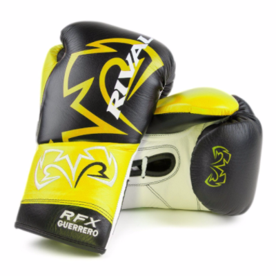 Rival RFX Guerrero Pro Fight Gloves - Black/Yellow