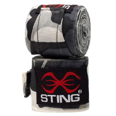Sting 4.5m Handwraps - Grey Camo