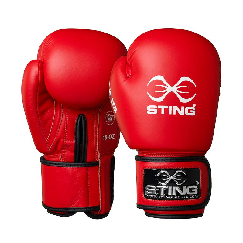 Sting AIBA Boxing Gloves - Red