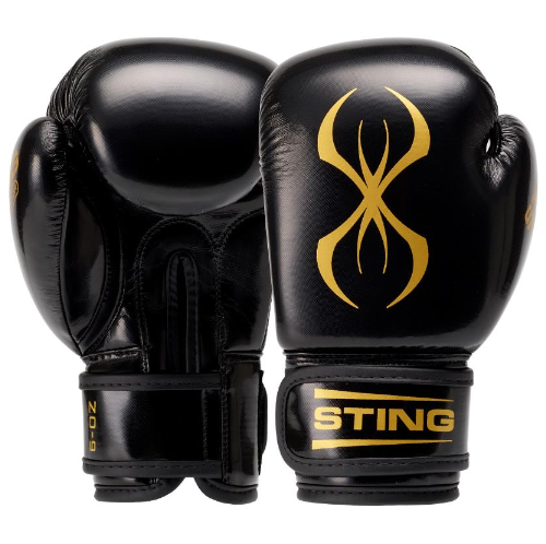 Sting Arma Junior Boxing Gloves - Black/Gold