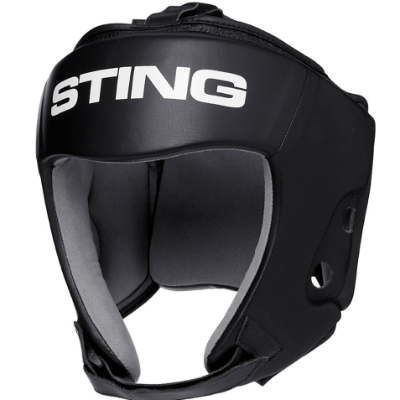 Sting Orion Gel Open Face Head Guard - Black
