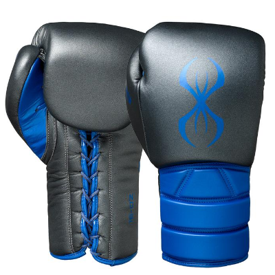 Sting Predator Lace-Up Training Gloves - Black/Blue