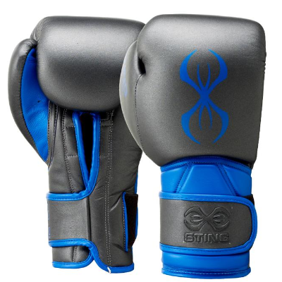 Sting Predator Velcro Training Gloves - Black/Blue