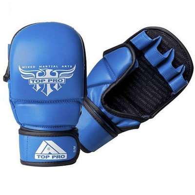 Top Pro Tornado MMA Sparring Gloves - Blue
