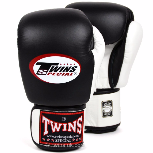 Twins 2 Tone Boxing Gloves - Black/White
