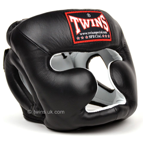 Twins 2 Tone Closed Face Head Guard - Black