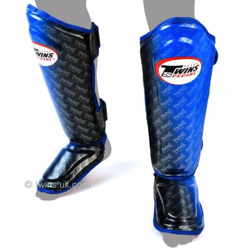 Twins Black/Blue Fade Shinguards