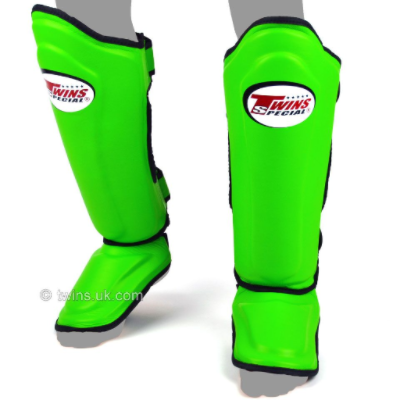 Twins Double Padded Shin Guards - Green
