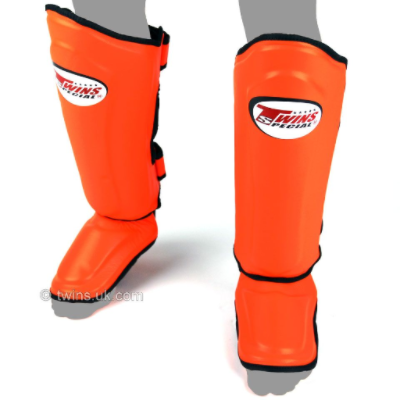 Twins Double Padded Shin Guards - Orange