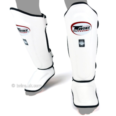 Twins Double Padded Shin Guards - White