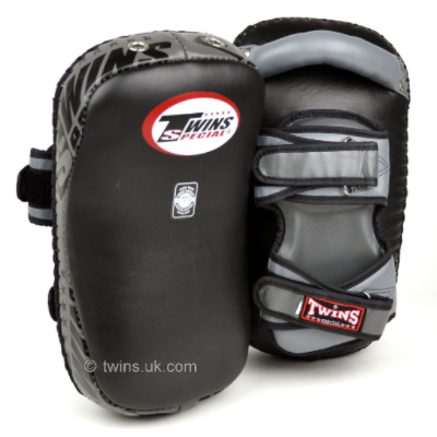 Twins KPL-12 Deluxe Thai Kick Pads - Black/Grey
