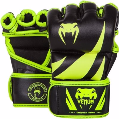 Venum Neon Challenger MMA Gloves - Black/Yellow