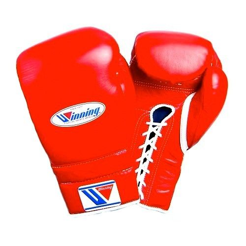 Winning MS Lace Up Sparring Gloves - Red