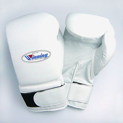 Winning Velcro Boxing Gloves - White